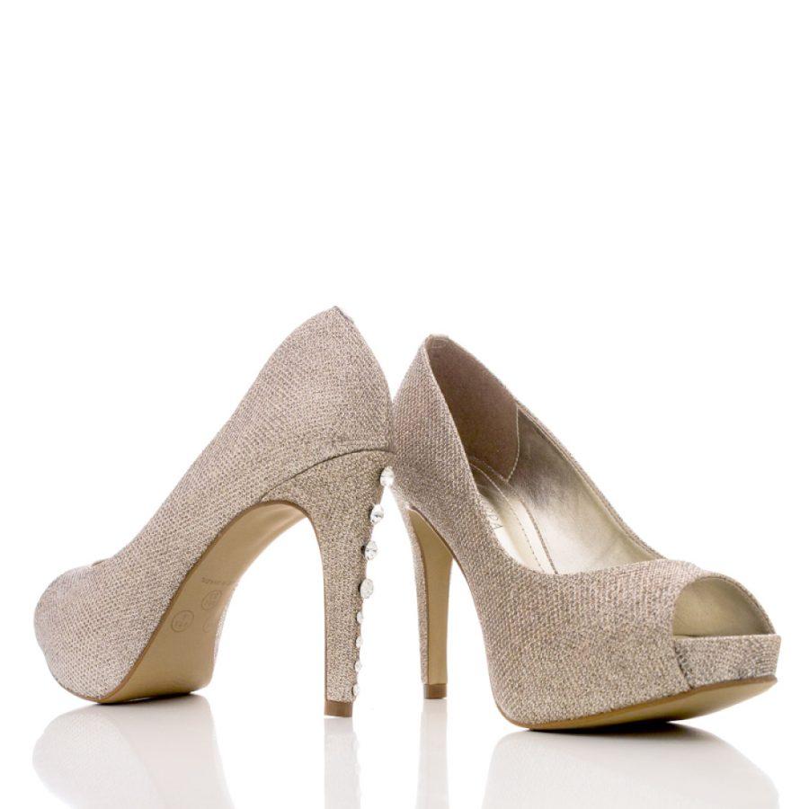 f561e2a73 Sapato de Noiva Peep Toe - SS47 Cooper - Santa Scarpa