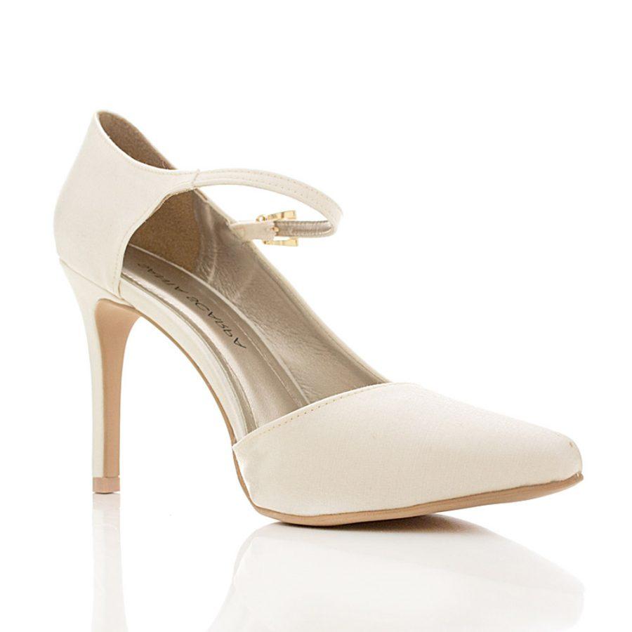 703e3e754e Sapato de Noiva e Festa Scarpin - Shell Off White - Santa Scarpa