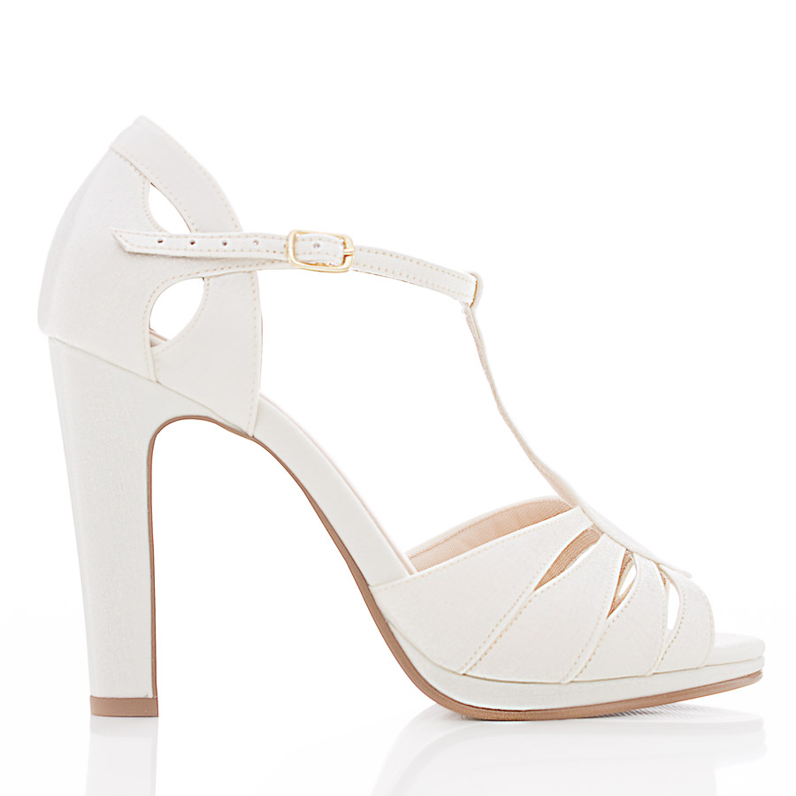 b718e5937 Sapato de Noiva Peep Toe - Dayane Off White - Santa Scarpa