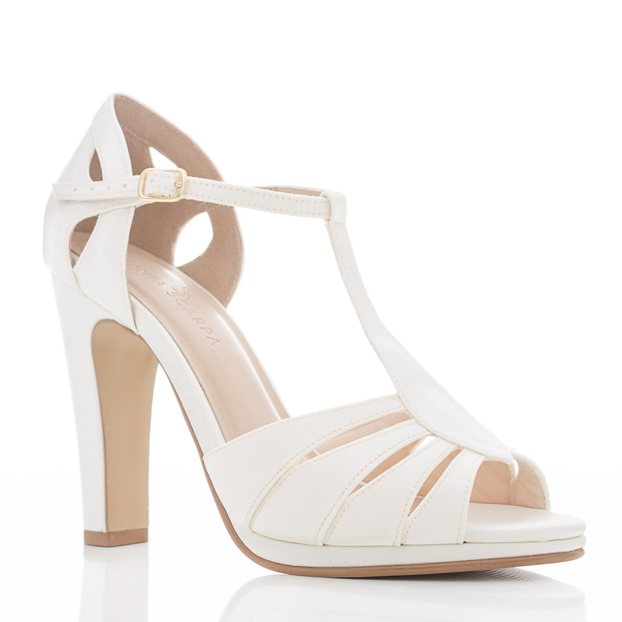 2aed7743b Sapato de Noiva Peep Toe - Dayane Off White - Santa Scarpa