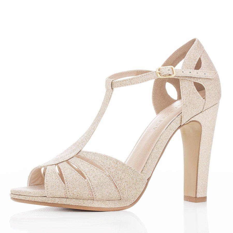 4bc42768c Sapato de Noiva e Festa Peep Toe - Dayane Ouro - Santa Scarpa