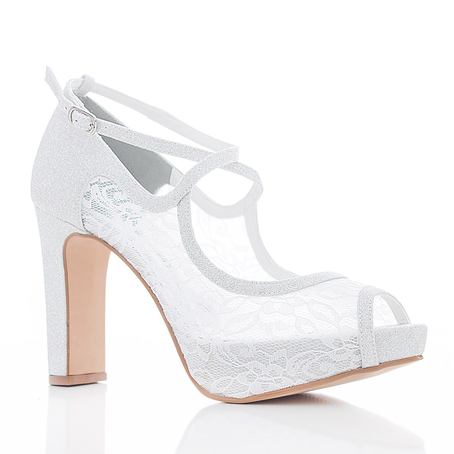 181647db16 Sapato de Noiva – SS105 Branco Brilhante - Santa Scarpa