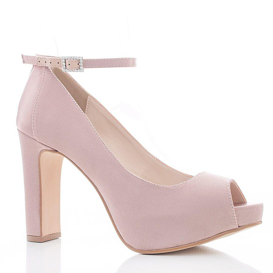 63875b2c2 Sapato de Noiva e Festa Peep Toe - SS111 Nude - Santa Scarpa