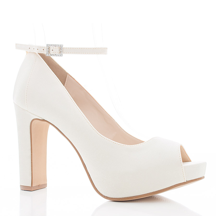 de8133b97 Sapato de Noiva Peep Toe - SS111 Off White - Santa Scarpa