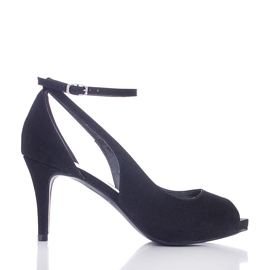 784dfc231 Sapato para Festa Peep Toe - Sky Preto - Santa Scarpa