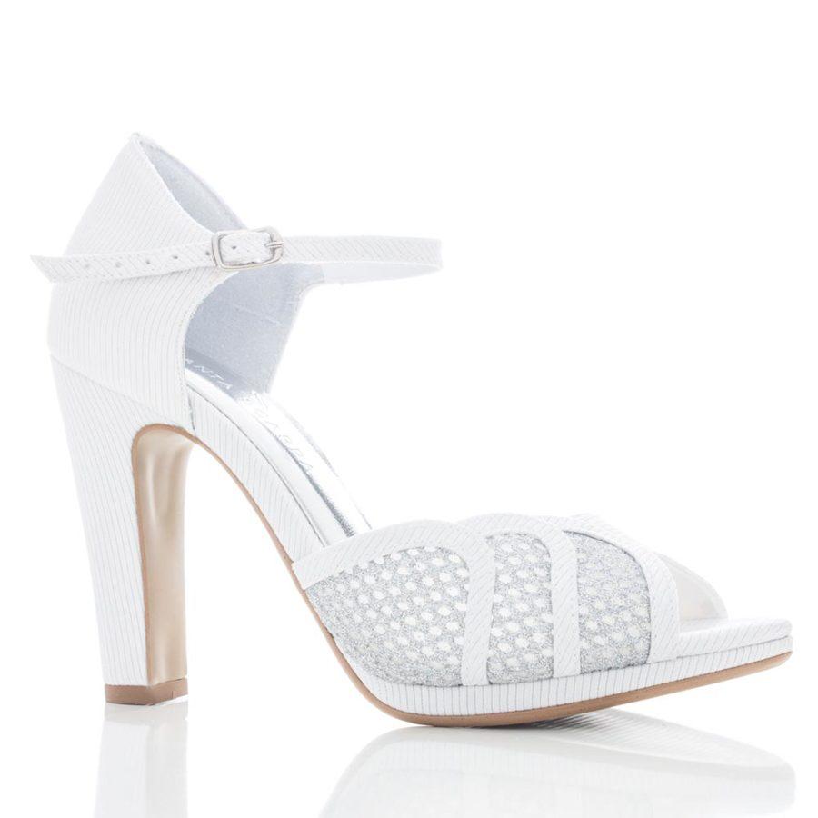 2790f396f Sapato de Noiva Peep Toe - Nicaia Branco - Santa Scarpa