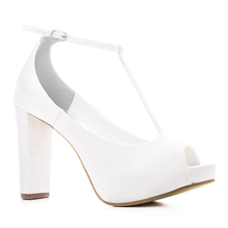 5680fc8eed352 Sapato de Noiva Peep Toe - Tam Branco - Santa Scarpa