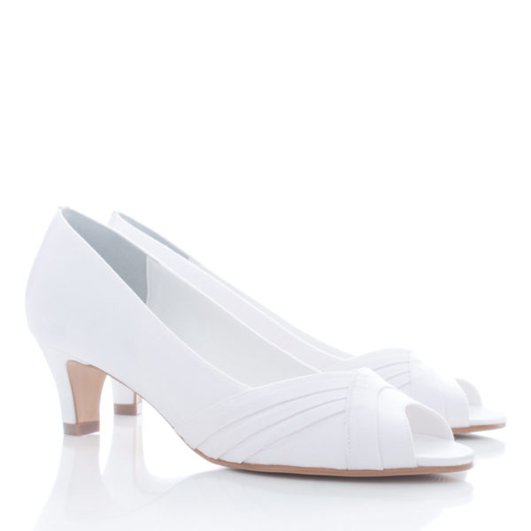 Peep Toe Noiva SS113 Branco Santa Scarpa