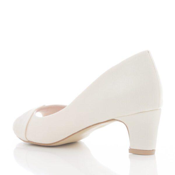 Peep Toe Santa Scarpa EC2 Off White para Noiva